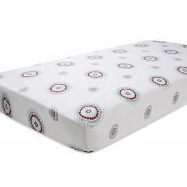 aden + anais Cotton Fitted Cot Sheet 'Brave - Medallion'
