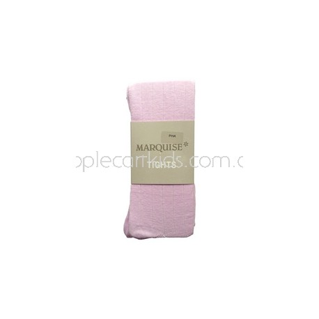 Marquise Cotton Tights 'Pink Ribbed' Sizes 0 to 6 yrs