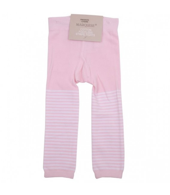 c108a1f463565 Marquise Girls Footless Cotton Leggings 'Pink & White Stripe' Sizes ...