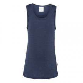Sweet Cheeks 100% Merino Kids Singlet - Blue Night
