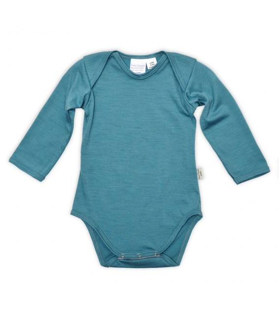Sweet Cheeks 100% Merino Bodysuit - Teal