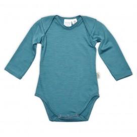 Sweet Cheeks 100% Merino Bodysuit - Teal