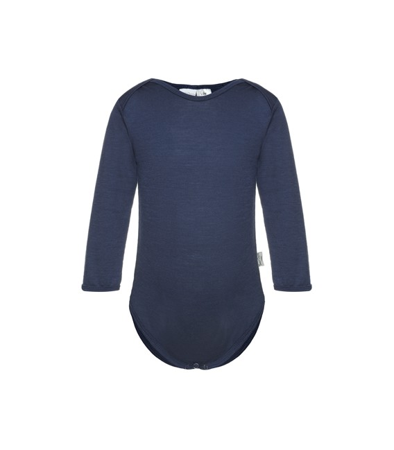 Sweet Cheeks 100% Merino Bodysuit - Navy