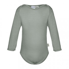 Sweet Cheeks 100% Merino Bodysuit - Grey