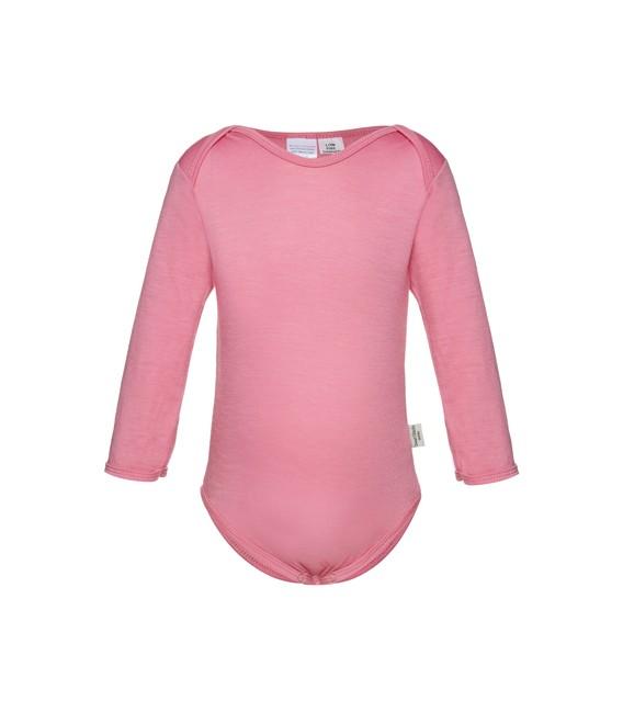 Sweet Cheeks 100% Merino Bodysuit - Candy Pink