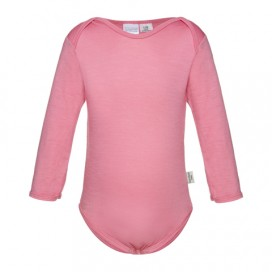 Sweet Cheeks 100% Merino Bodysuit - Candy Pink
