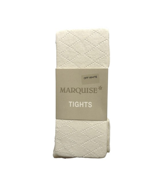 Marquise Cotton Tights 'Off White Diamond Effect' Sizes Newborn to 8 yrs