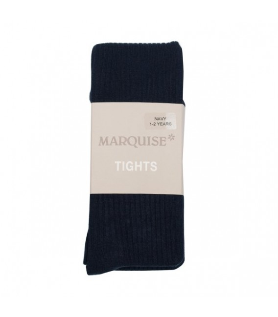 Marquise Cotton Tights 'Navy Chunky Rib' Sizes 0 to 6 yrs
