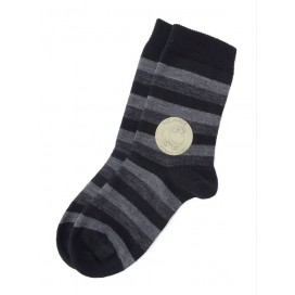 Sweet Cheeks Kids Merino Socks 'Black/Charcoal Stripe' Size 3-4, 5-7, 7-10yrs