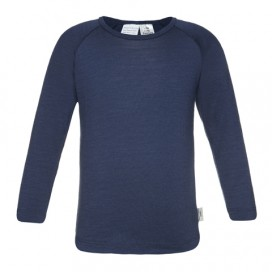 Sweet Cheeks 100% Merino Kids Long Sleeve Top 'Navy' Size 1-2, 3-4, 5-6, 7-8yrs