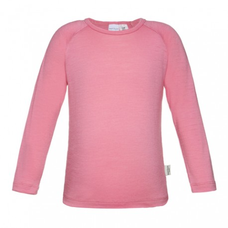 Girls 100% Merino Long Sleeve Top 'Candy Pink' Size 1-2, 3-4, 5-6, 7-8yrs