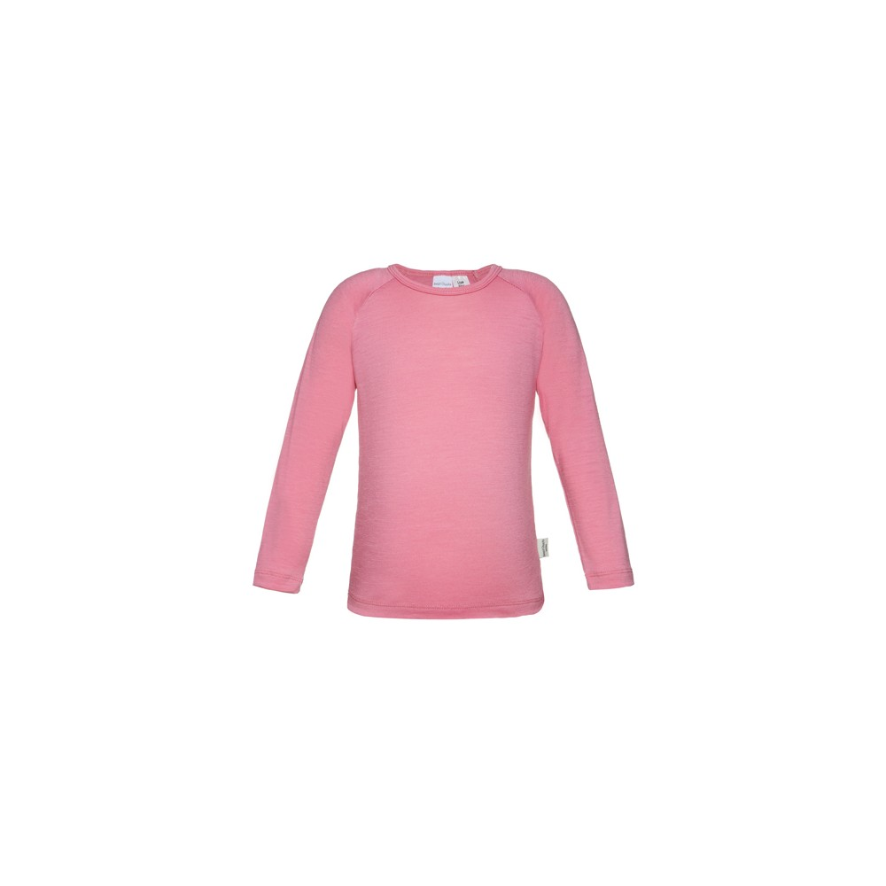 0e3dcee403 Girls 100% Merino Long Sleeve Top  Candy Pink  Size 1-2
