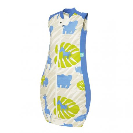 ergoPouch 0.3 TOG Summer Organic Cotton Baby Sleeping Bag - Blue Jungle 2-12mths, 12-36mths