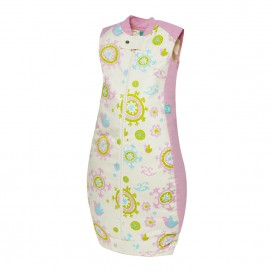 ergoPouch 0.3 TOG Summer Organic Cotton Baby Sleeping Bag - Pink Garden 2-12mths, 12-36mths