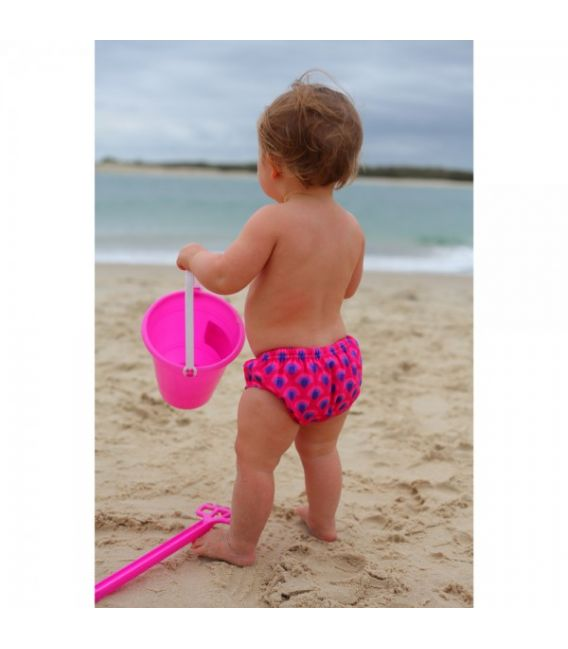 Rashoodz Reusable Swim Nappy 'Purple Peacock' 0, 1, 2