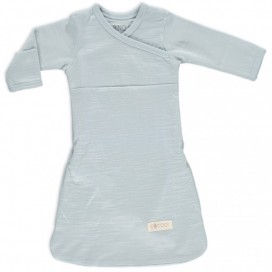 Merino Kids - Cocooi Newborn Merino Sleep Gown - Turtle Dove Grey 0-3mths