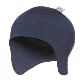 Sweet Cheeks Merino Snug Beanie with Ear Flaps 'Navy'