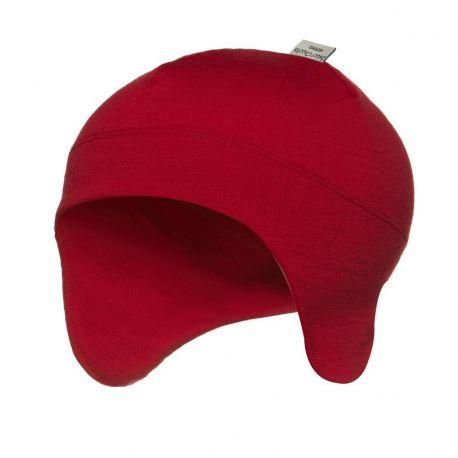 Sweet Cheeks Merino Snug Beanie with Ear Flaps 'Red'