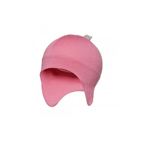 Sweet Cheeks Merino Snug Beanie with Ear Flaps 'Pink' 0-4mths only