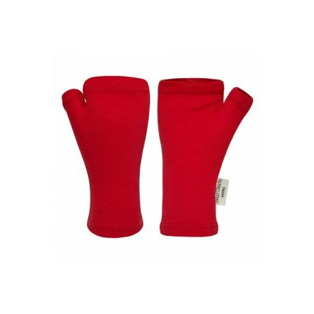 Sweet Cheeks Merino Fingerless Gloves 'Red' 1-2, 3-4, 5-8+yrs
