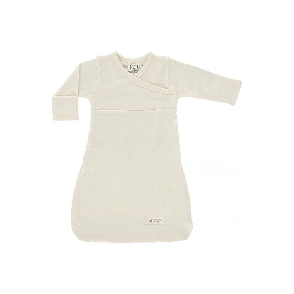 Merino Kids - Cocooi Newborn Merino Sleep Gown - Turtle Dove Grey 0 ...