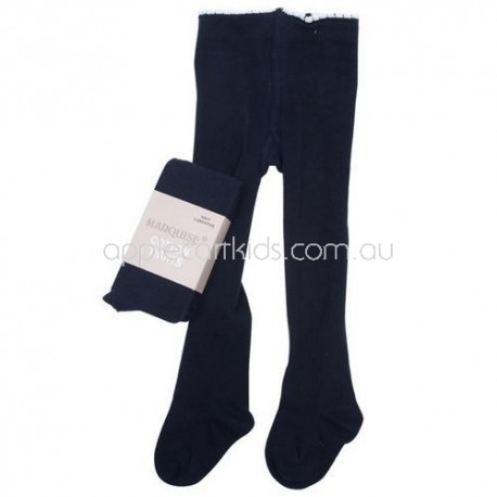 Marquise Knitted Cotton Tights 'Black'