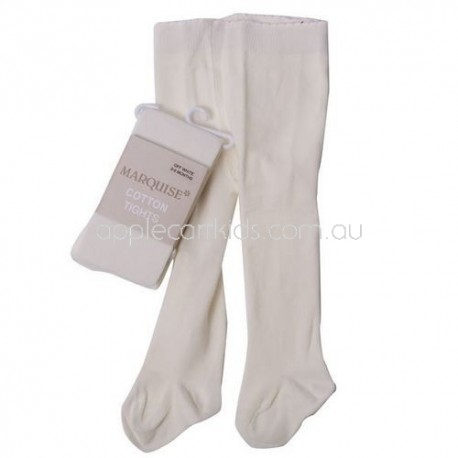 Marquise Knitted Cotton Tights 'Off White'