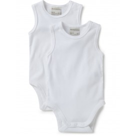 Marquise - 2pk Sleeveless Bodysuits (White)