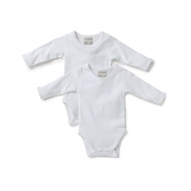 Marquise - 2pk Long Sleeve Baby Bodysuits (White)