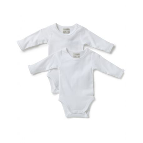 Marquise - 2pk Long Sleeve Bodysuits - White 000, 00, 0, 1