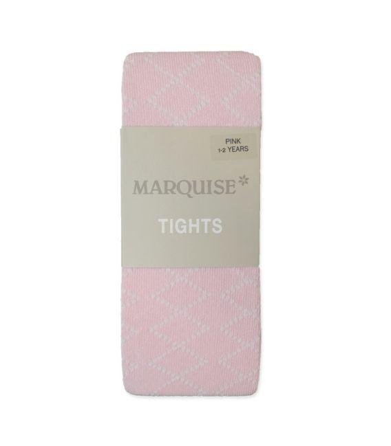 Marquise Cotton Tights 'Pink - Diamond Effect' Newborn, 0-6mths, 6-12mths, 1-2yrs