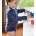 Sweet Cheeks Merino Bodysuit 'Navy' 6-12mths, 1-2yrs