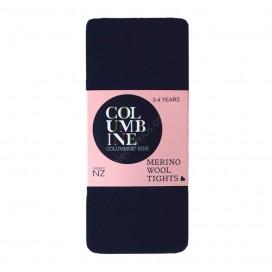 Columbine Merino Wool Tights - Navy 5-6yrs