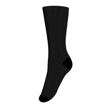 Columbine Plain Merino Wool Crew Sock - Black 2-4, 5-7yrs