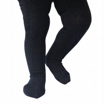 Lamington Girls Merino Cable Tights - NEW Navy 1-2, 2-4, 4-6yrs