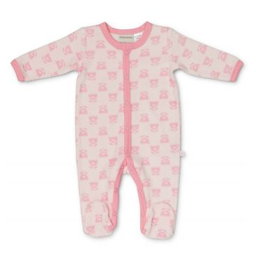 Marquise Winter Warmer Velour Studsuit - Pink Flower