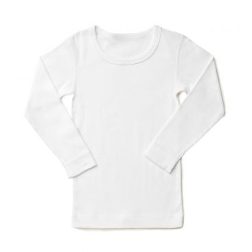 Marquise Long Sleeve Plain Cotton Spencer 'White'