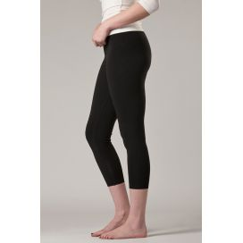 O2wear Women's Bamboo 3/4 Cropped Leggings - Black
