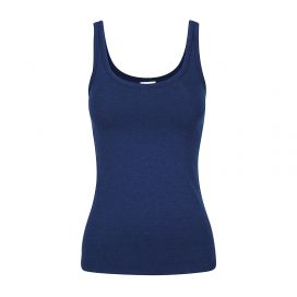 Bamboo Body Women's Scoop Singlet (Navy)