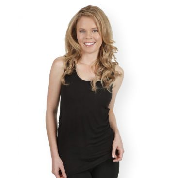 Bamboo Body Women's Ruched Singlet - Black