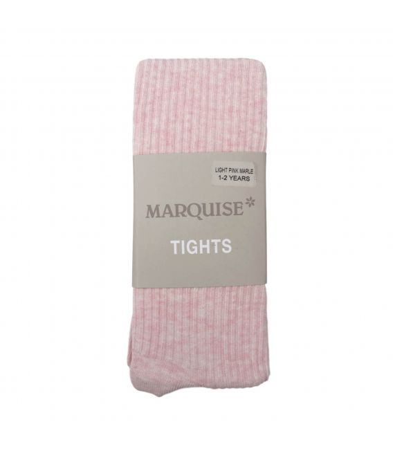 Marquise Cotton Tights 'Pink Marle - Chunky Rib'