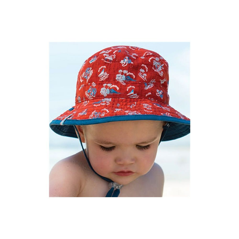 Dozer Baby Boys  Duke  Blue Check Bucket Sun Hat REVERSIBLE 0 ... 23a59b47dbf