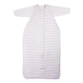 Woolbabe Duvet Baby Sleeping Bag - Front-Zip + Long Sleeve 'NEW Pebble'