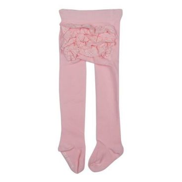 Marquise Girls Frill Bottom Cotton Tights (Pink)
