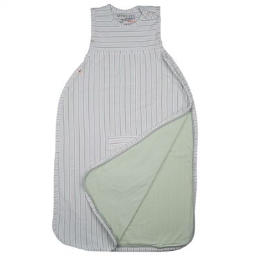 Merino Kids Go Go Sleeping Bag - Standard Weight (NEW Aoraki Light Green/Grey Stripe)