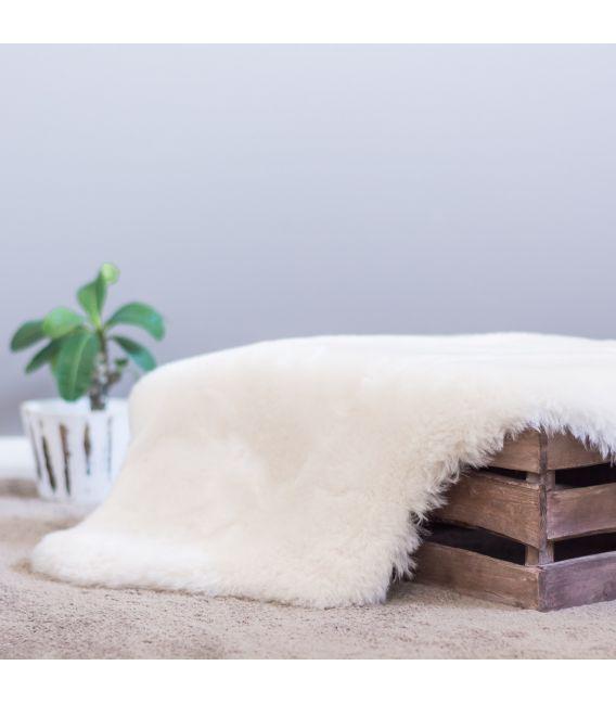 Cozy Mate Ivory Shorn Wool Lambskin