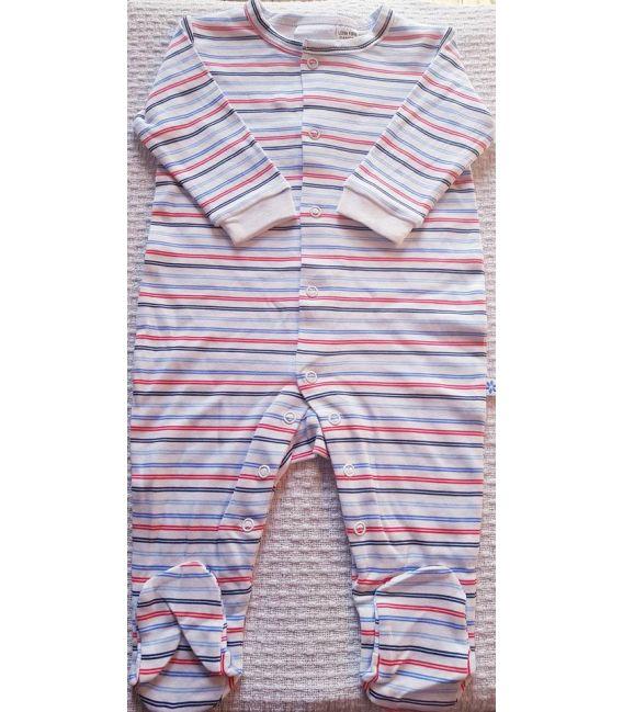 Marquise Cotton Studsuit (Blue Stripe)