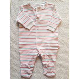 Marquise Cotton Studsuit (Pink Stripe)
