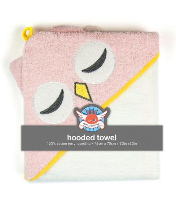 Weegoamigo Hooded Towel - Pink Owl
