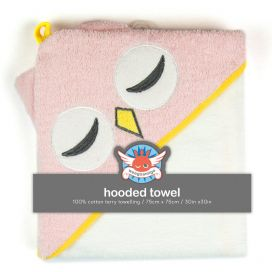 Weegoamigo Hooded Towel - Pink Owl